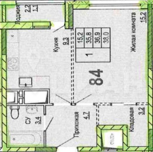 Продажа однокомнатной квартиры рабочий поселок Новоивановское, цена 5800000 рублей, 2021 год объявление №455554 на megabaz.ru