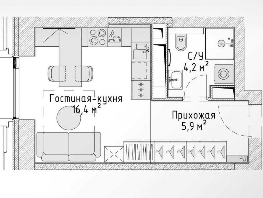 Продажа студии Москва, метро Волоколамская, цена 8050000 рублей, 2021 год объявление №652128 на megabaz.ru