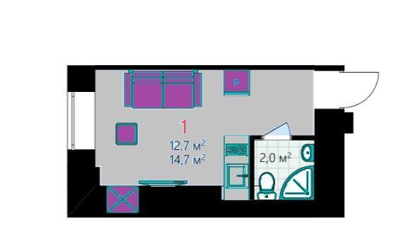 Продажа студии Москва, метро Цветной бульвар, Садовая-Самотёчная улица 7с1, цена 4390000 рублей, 2020 год объявление №393850 на megabaz.ru