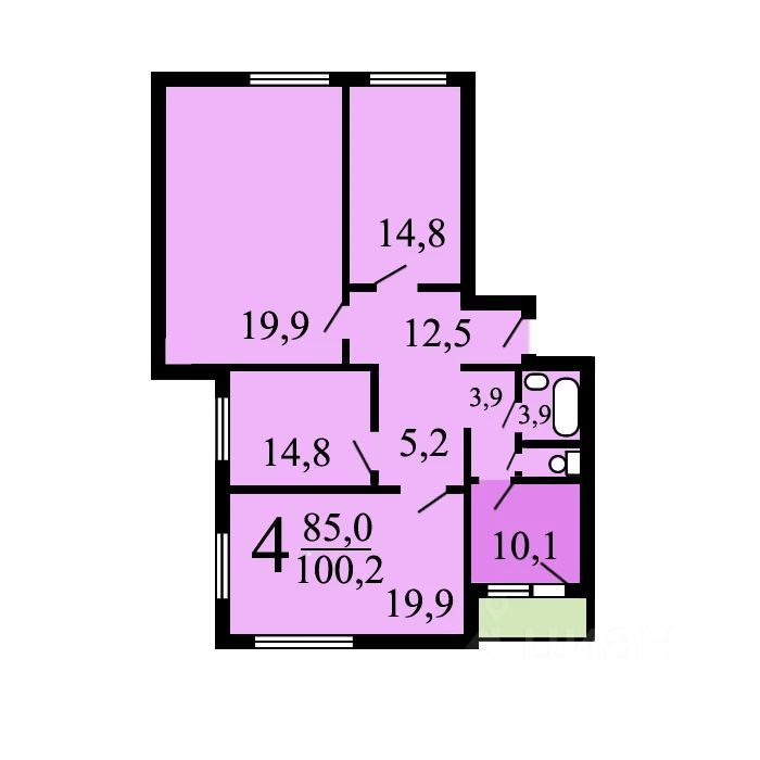 Продажа четырёхкомнатной квартиры Москва, метро Красногвардейская, Ореховый проезд 41к1, цена 22000000 рублей, 2021 год объявление №653748 на megabaz.ru