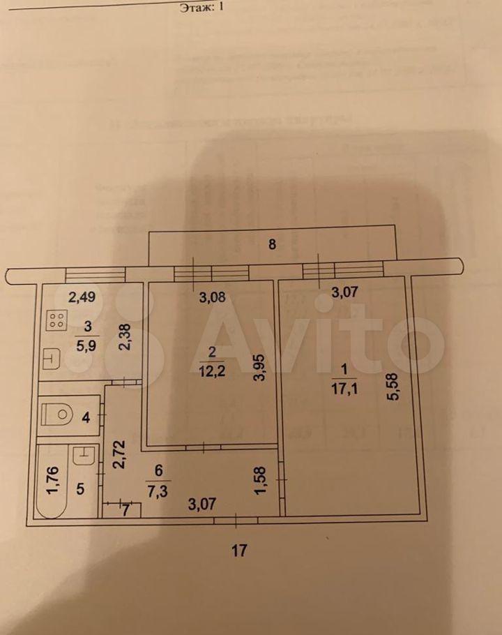 Продажа двухкомнатной квартиры деревня Тарасково, Комсомольская улица 39, цена 2100000 рублей, 2021 год объявление №654813 на megabaz.ru