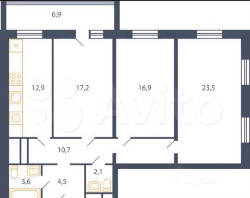Продажа трёхкомнатной квартиры деревня Пирогово, улица Ильинского 3, цена 8500000 рублей, 2021 год объявление №655229 на megabaz.ru
