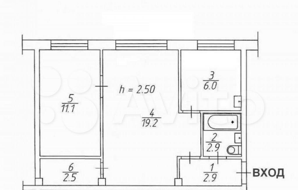 Продажа двухкомнатной квартиры Клин, Бородинский проезд 34, цена 4500000 рублей, 2021 год объявление №661590 на megabaz.ru