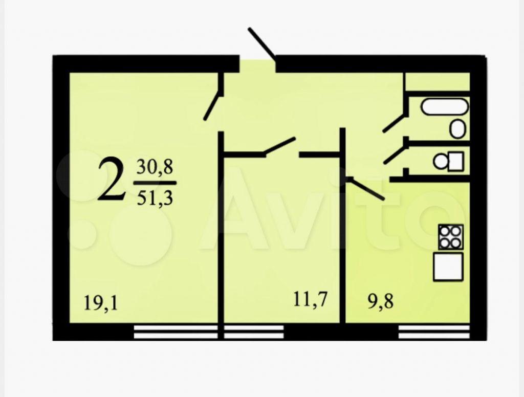 Продажа двухкомнатной квартиры Москва, метро Пражская, улица Красного Маяка 13к3, цена 13000000 рублей, 2021 год объявление №665549 на megabaz.ru