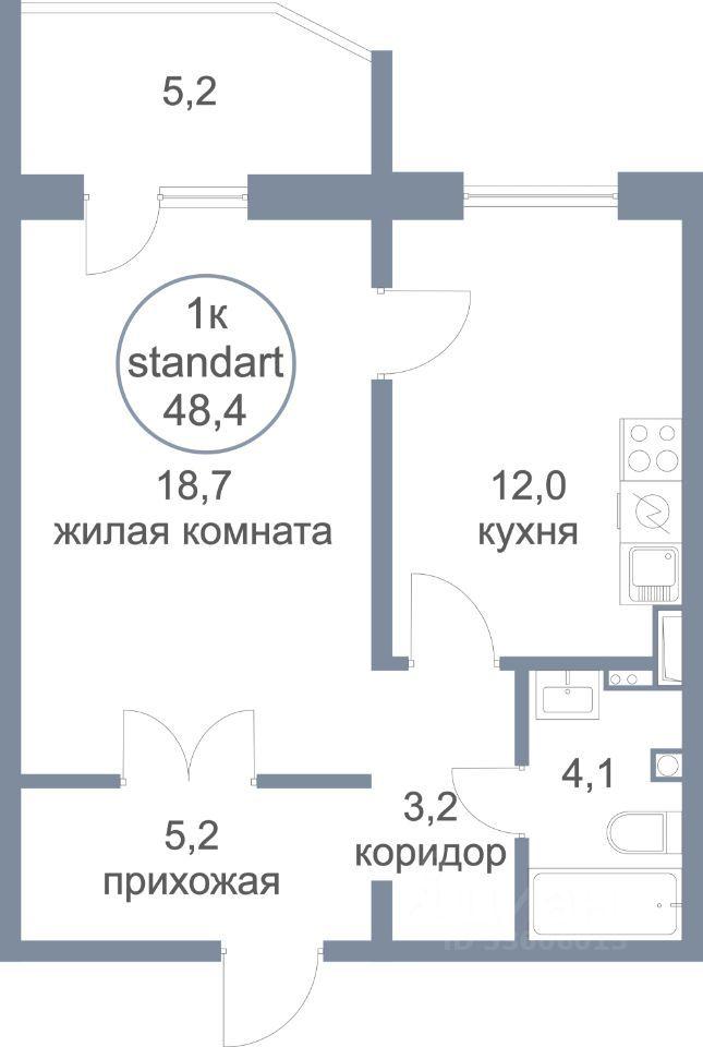 Продажа однокомнатной квартиры деревня Голубое, метро Пятницкое шоссе, Парковый бульвар 2к4, цена 4400000 рублей, 2021 год объявление №658230 на megabaz.ru