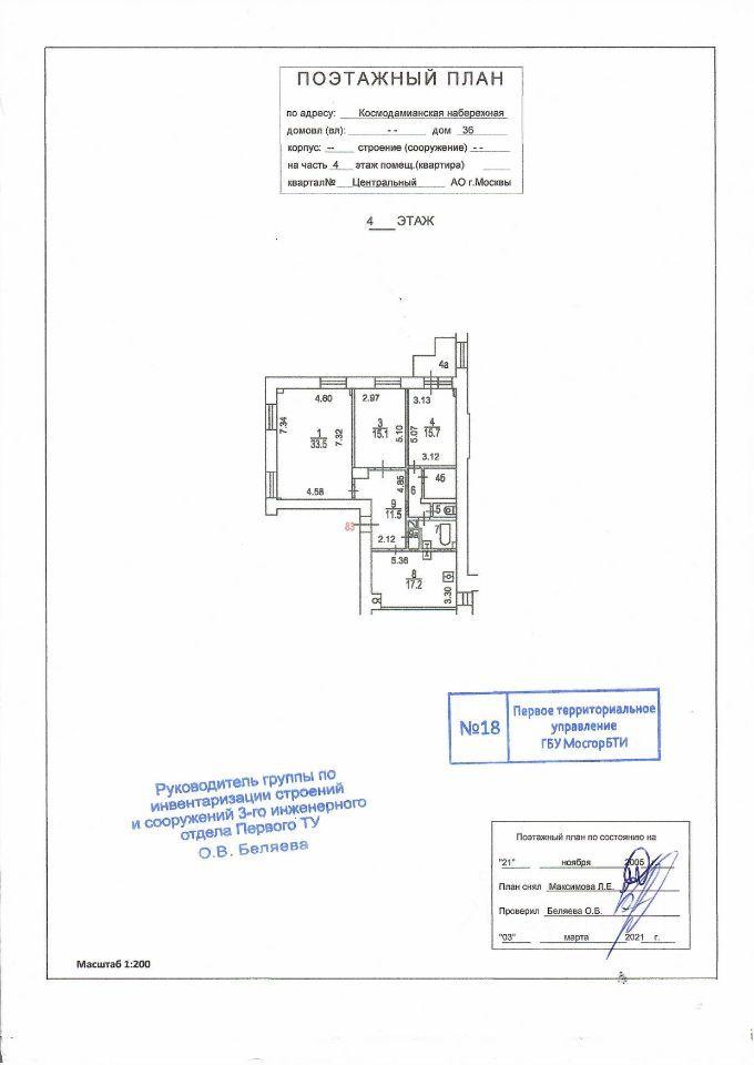 Продажа трёхкомнатной квартиры Москва, метро Таганская, Космодамианская набережная 36, цена 46000000 рублей, 2021 год объявление №659676 на megabaz.ru