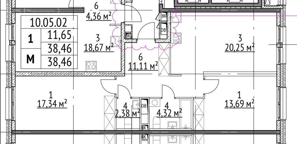 Продажа двухкомнатной квартиры Москва, метро Измайловская, Измайловский проезд 5А, цена 21000000 рублей, 2021 год объявление №696826 на megabaz.ru