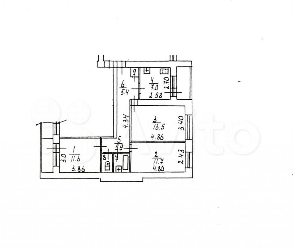 Аренда трёхкомнатной квартиры Ивантеевка, Центральный проезд 1, цена 25000 рублей, 2021 год объявление №1431013 на megabaz.ru