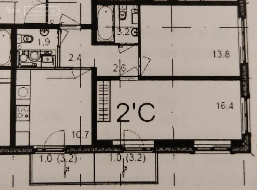 Продажа двухкомнатной квартиры деревня Елино, цена 5100000 рублей, 2021 год объявление №661177 на megabaz.ru