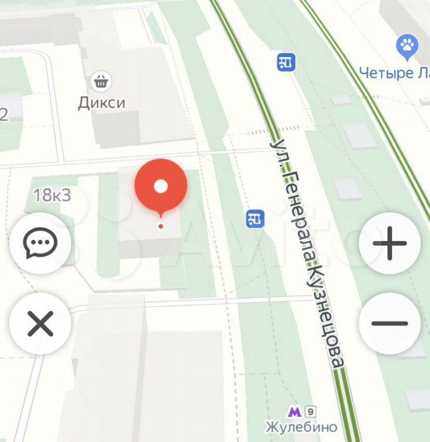 Продажа однокомнатной квартиры Москва, метро Жулебино, улица Генерала Кузнецова 18к1, цена 5765000 рублей, 2021 год объявление №660435 на megabaz.ru