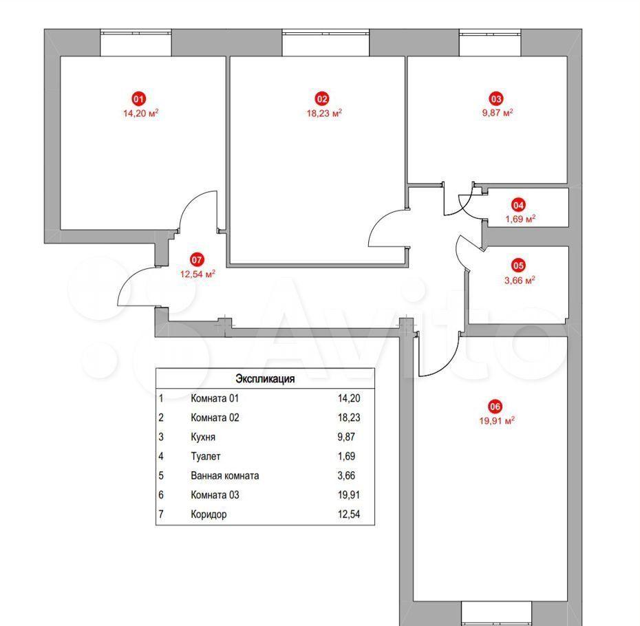 Продажа трёхкомнатной квартиры Москва, метро Автозаводская, 1-й Кожуховский проезд 11, цена 21500000 рублей, 2021 год объявление №660420 на megabaz.ru