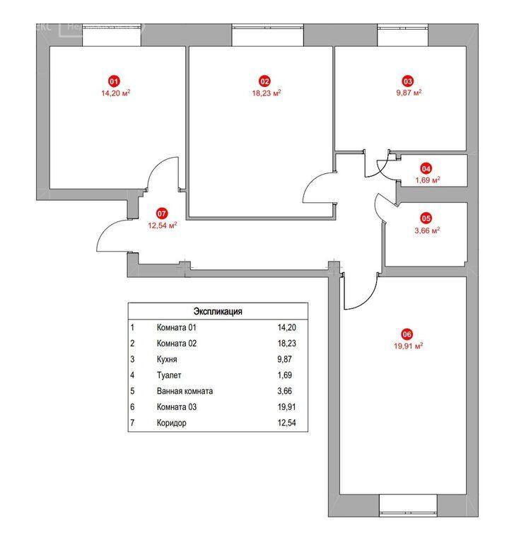 Продажа трёхкомнатной квартиры Москва, метро Автозаводская, 1-й Кожуховский проезд 11, цена 21500000 рублей, 2021 год объявление №660410 на megabaz.ru