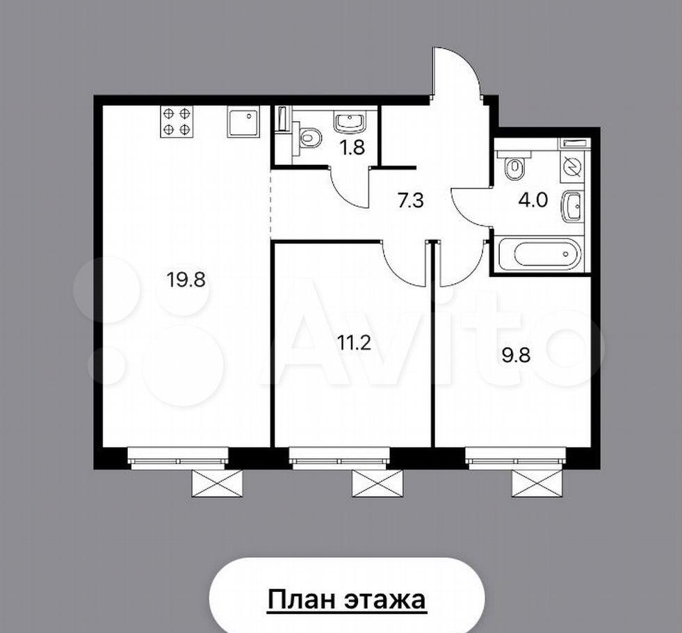 Аренда трёхкомнатной квартиры Мытищи, метро Медведково, Юбилейная улица 10, цена 38000 рублей, 2021 год объявление №1433209 на megabaz.ru