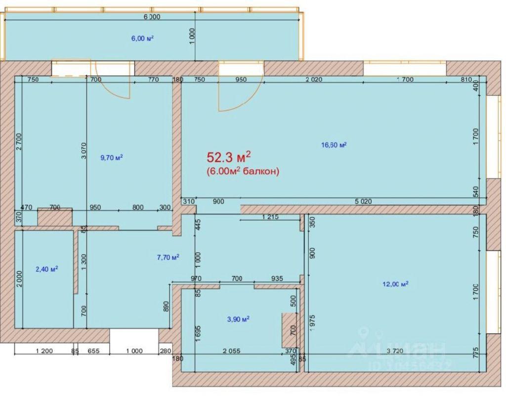 Продажа двухкомнатной квартиры деревня Елино, цена 6300000 рублей, 2021 год объявление №658501 на megabaz.ru