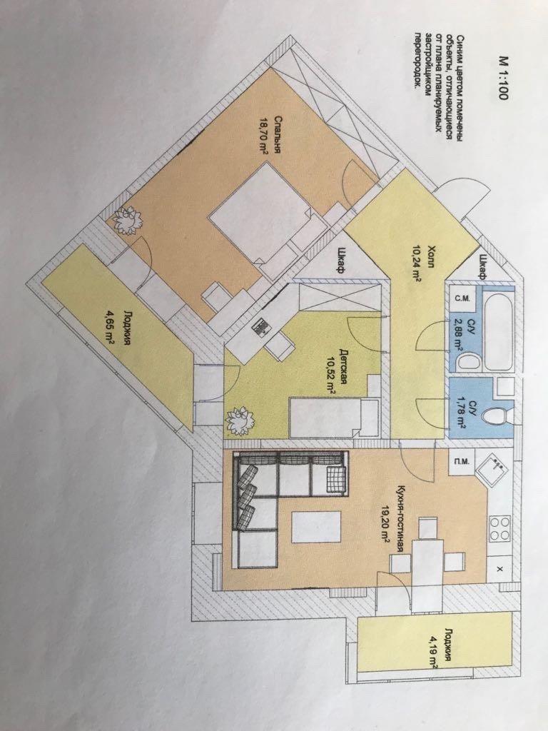 Продажа трёхкомнатной квартиры деревня Высоково, цена 6500000 рублей, 2020 год объявление №435218 на megabaz.ru