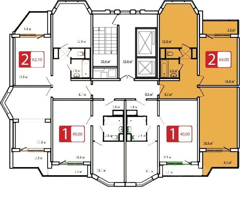 Продажа двухкомнатной квартиры деревня Сапроново, метро Домодедовская, цена 9150000 рублей, 2021 год объявление №665080 на megabaz.ru