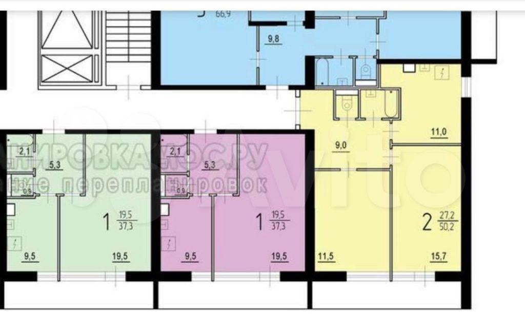 Продажа двухкомнатной квартиры Реутов, метро Новокосино, улица Дзержинского 3к2, цена 9600000 рублей, 2021 год объявление №665027 на megabaz.ru