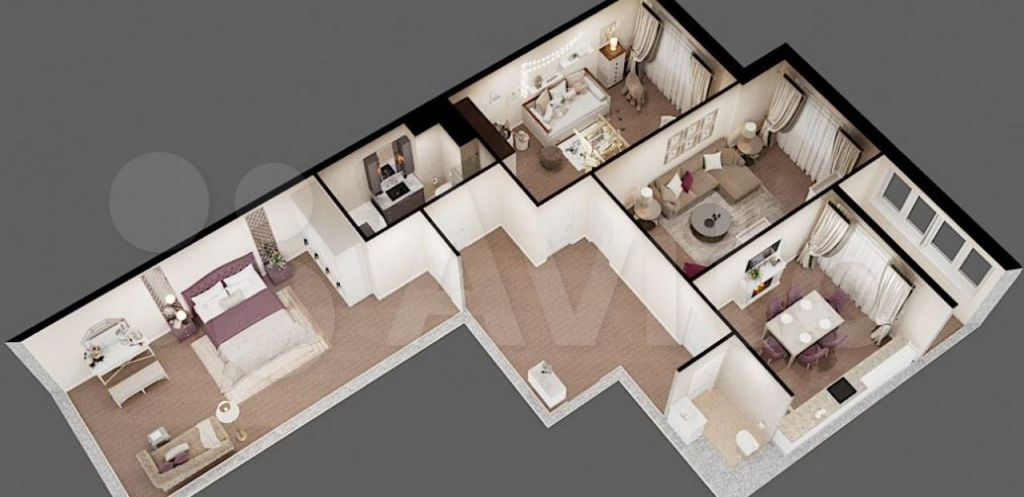 Продажа трёхкомнатной квартиры село Воскресенское, цена 12400000 рублей, 2021 год объявление №665423 на megabaz.ru