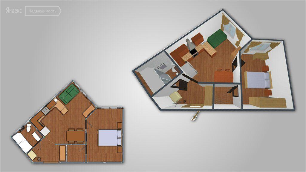 Аренда двухкомнатной квартиры Истра, Рабочая улица 1А, цена 29000 рублей, 2021 год объявление №1480719 на megabaz.ru