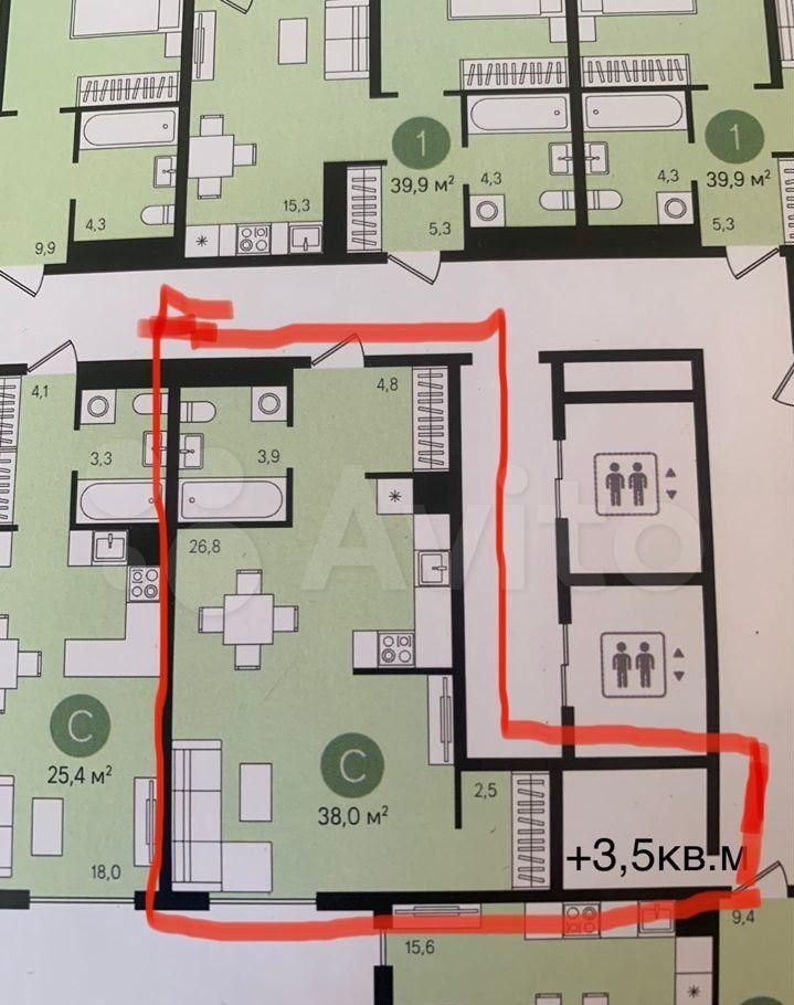 Продажа однокомнатной квартиры деревня Сапроново, Калиновая улица 1, цена 6750000 рублей, 2021 год объявление №667140 на megabaz.ru