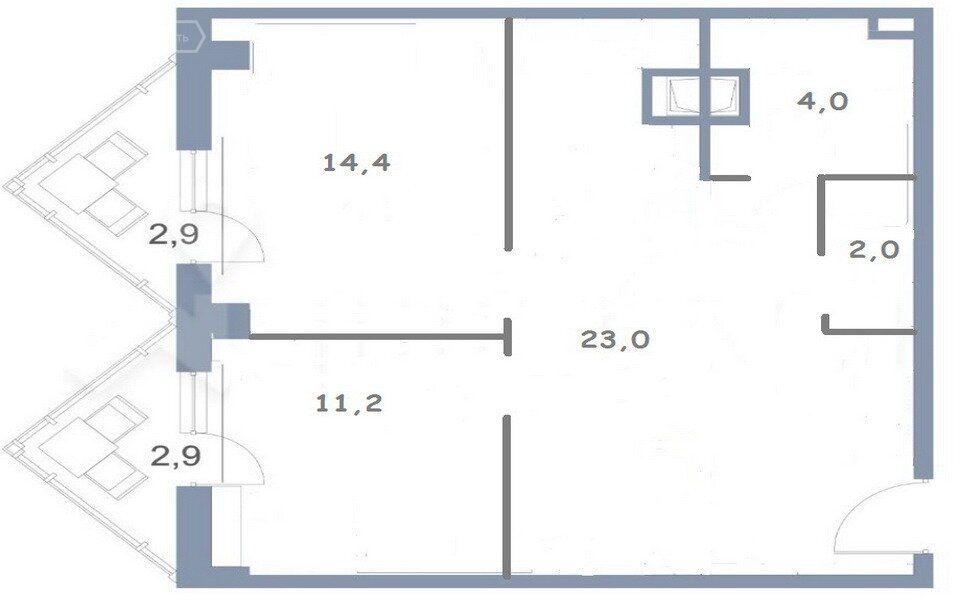 Продажа двухкомнатной квартиры деревня Голубое, метро Пятницкое шоссе, Сургутский проезд 1к1, цена 5400000 рублей, 2021 год объявление №667074 на megabaz.ru