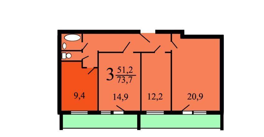 Продажа трёхкомнатной квартиры Москва, метро Алексеевская, проспект Мира 91к3, цена 16950000 рублей, 2020 год объявление №383155 на megabaz.ru