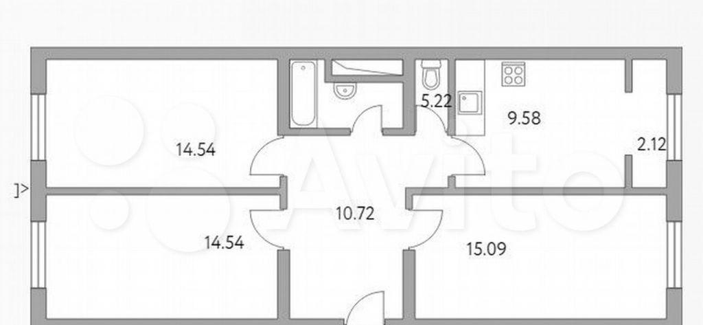 Продажа трёхкомнатной квартиры деревня Глухово, улица Рублёвское Предместье 1Б, цена 7999999 рублей, 2021 год объявление №691416 на megabaz.ru