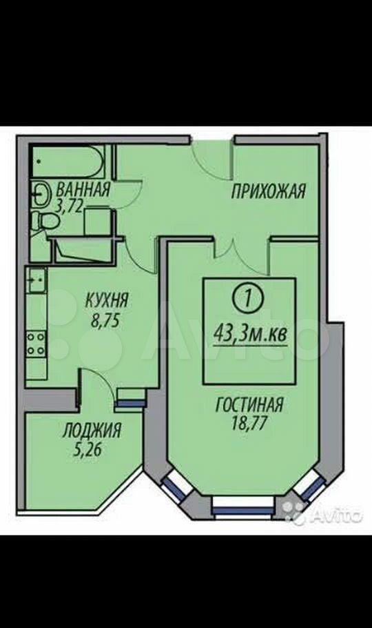 Продажа однокомнатной квартиры деревня Федурново, улица Авиарембаза 12, цена 4900000 рублей, 2021 год объявление №689727 на megabaz.ru