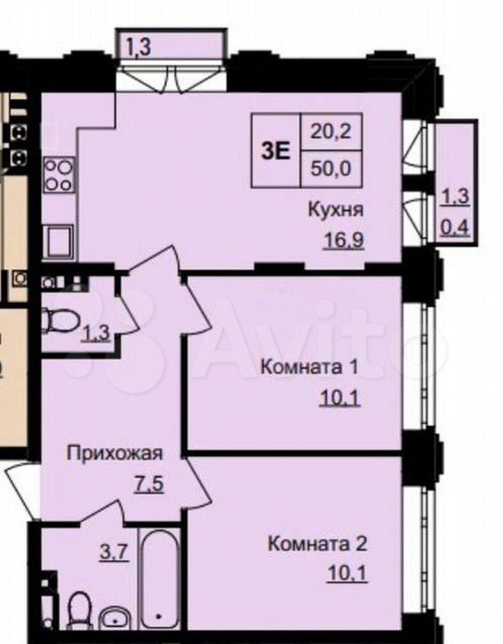 Продажа двухкомнатной квартиры поселок Нагорное, метро Алтуфьево, Липкинское шоссе 1, цена 9000000 рублей, 2021 год объявление №646349 на megabaz.ru