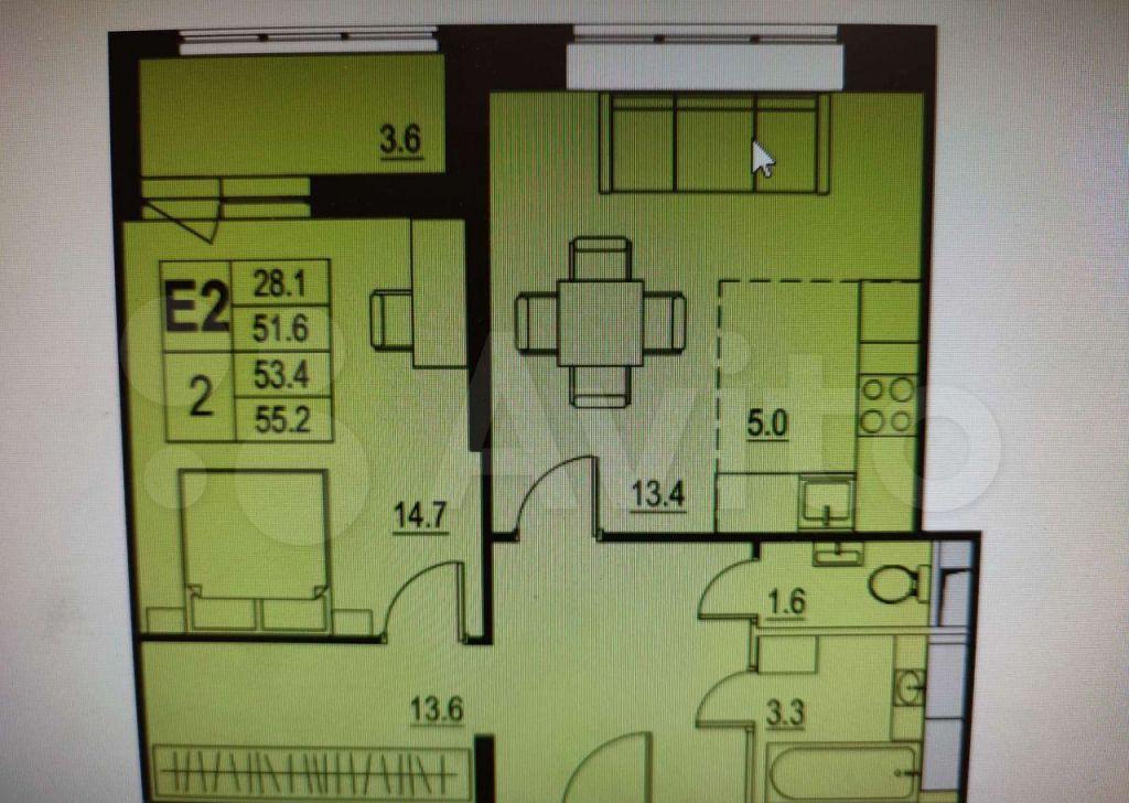 Продажа двухкомнатной квартиры Королёв, Советская улица 3А, цена 5990000 рублей, 2021 год объявление №708241 на megabaz.ru
