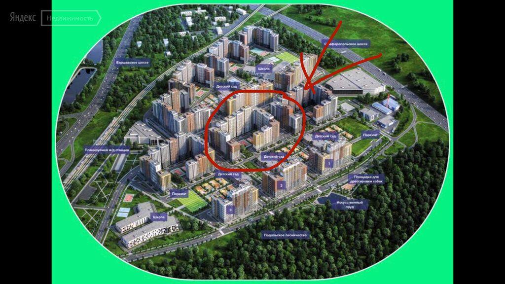Продажа однокомнатной квартиры поселок Битца, Южный бульвар 5, цена 6150000 рублей, 2021 год объявление №671984 на megabaz.ru
