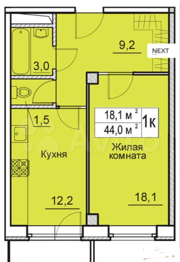 Продажа однокомнатной квартиры деревня Большие Жеребцы, цена 4300000 рублей, 2021 год объявление №693722 на megabaz.ru