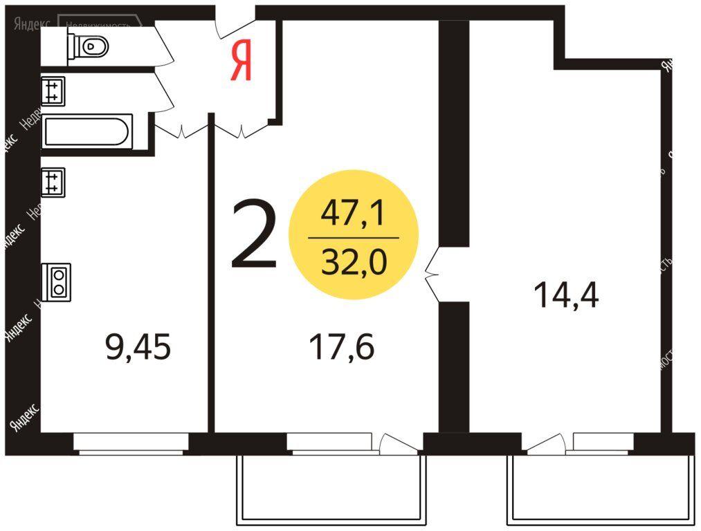 Аренда двухкомнатной квартиры Москва, метро ВДНХ, улица Кибальчича 2к3, цена 45000 рублей, 2021 год объявление №1467296 на megabaz.ru