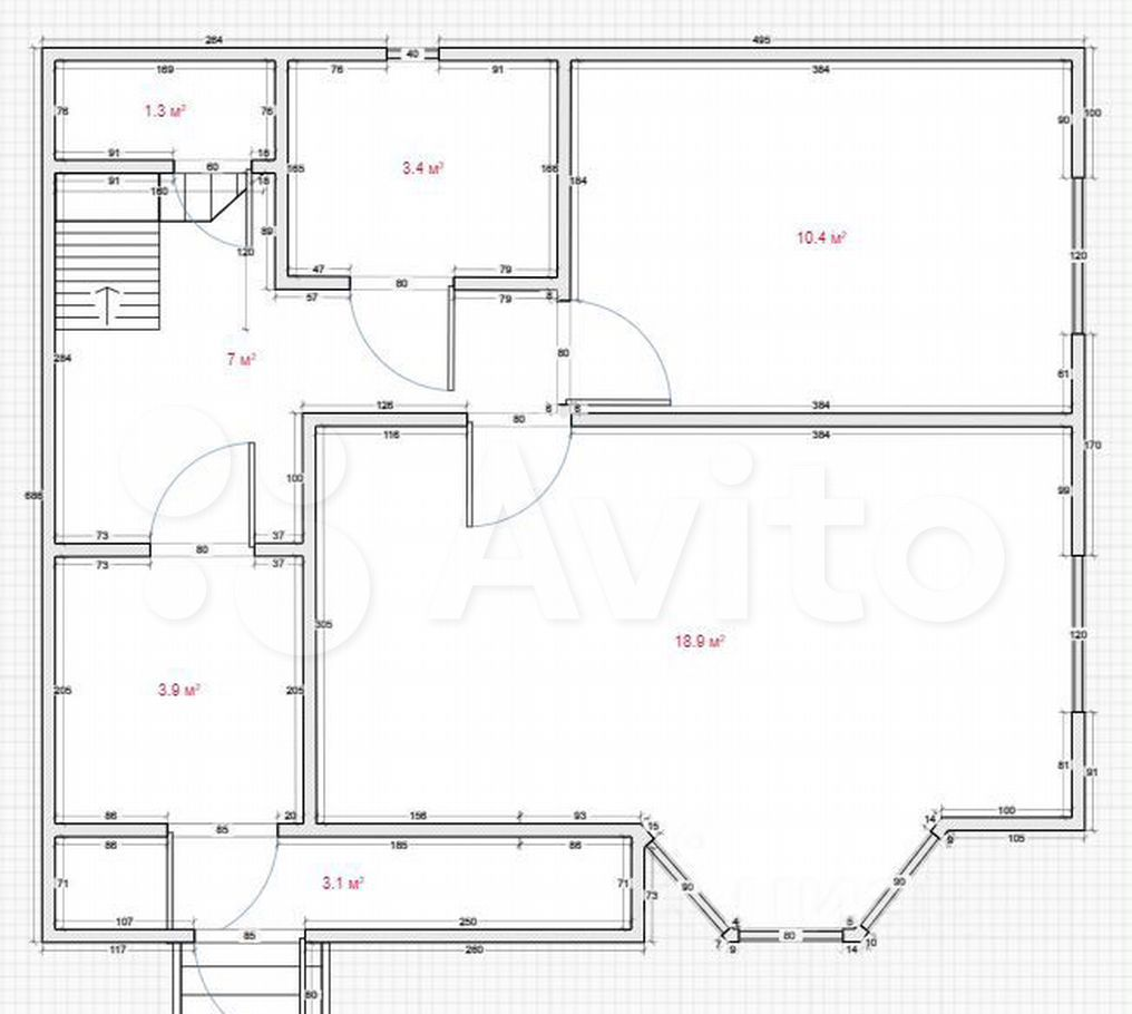 Продажа дома деревня Крюково, Беседенская улица 12А, цена 5200000 рублей, 2021 год объявление №673547 на megabaz.ru
