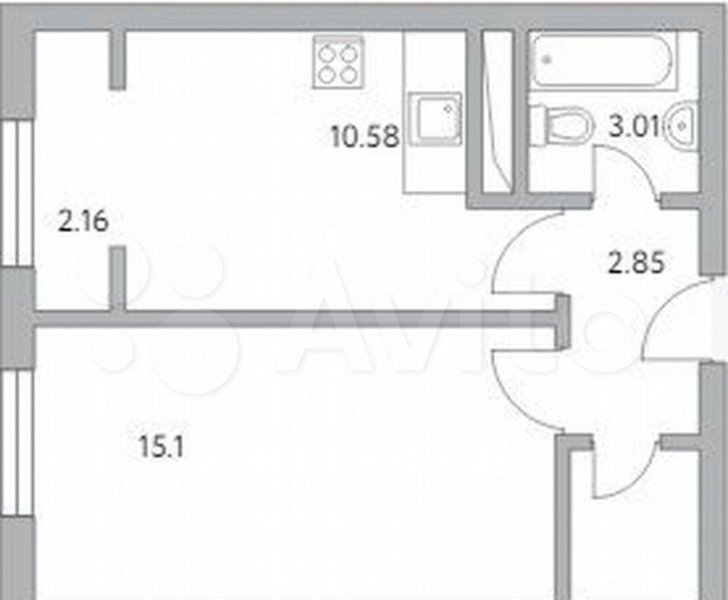 Продажа однокомнатной квартиры деревня Глухово, улица Рублёвское Предместье 1Б, цена 3924865 рублей, 2021 год объявление №699977 на megabaz.ru