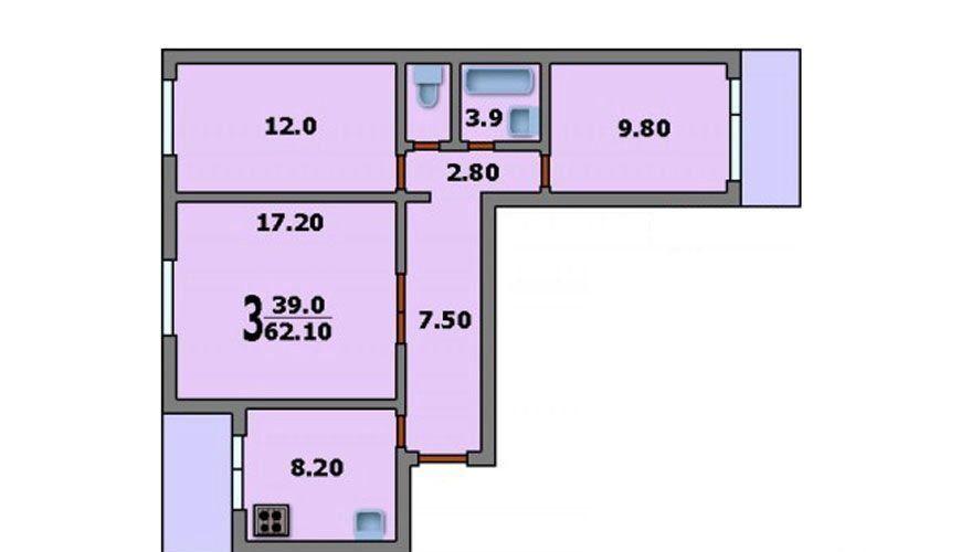 Продажа трёхкомнатной квартиры Москва, метро Отрадное, улица Декабристов 4к1, цена 11000000 рублей, 2020 год объявление №501521 на megabaz.ru