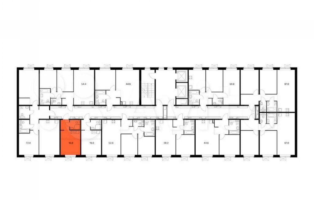 Продажа студии Видное, метро Улица Скобелевская, цена 4500000 рублей, 2021 год объявление №693667 на megabaz.ru