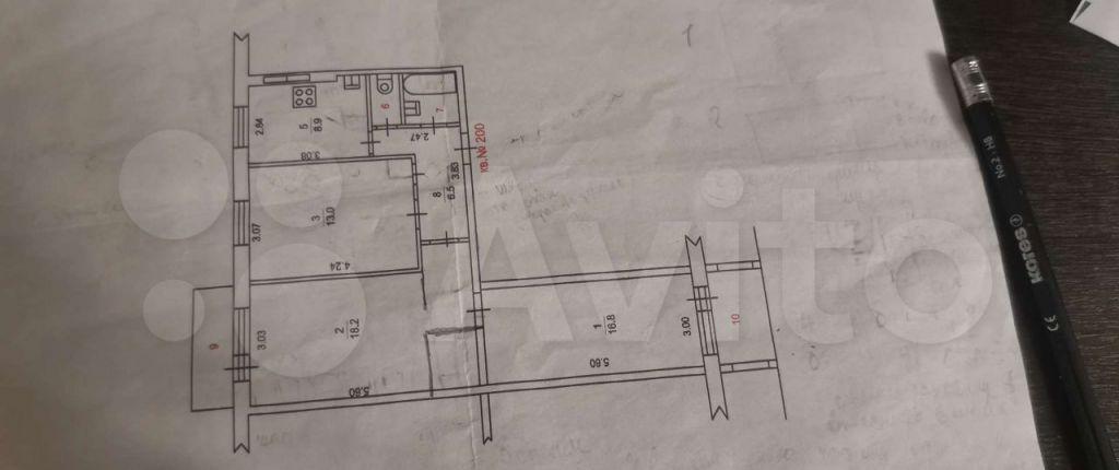 Продажа трёхкомнатной квартиры Щелково, Пролетарский проспект 17, цена 7000000 рублей, 2021 год объявление №693694 на megabaz.ru