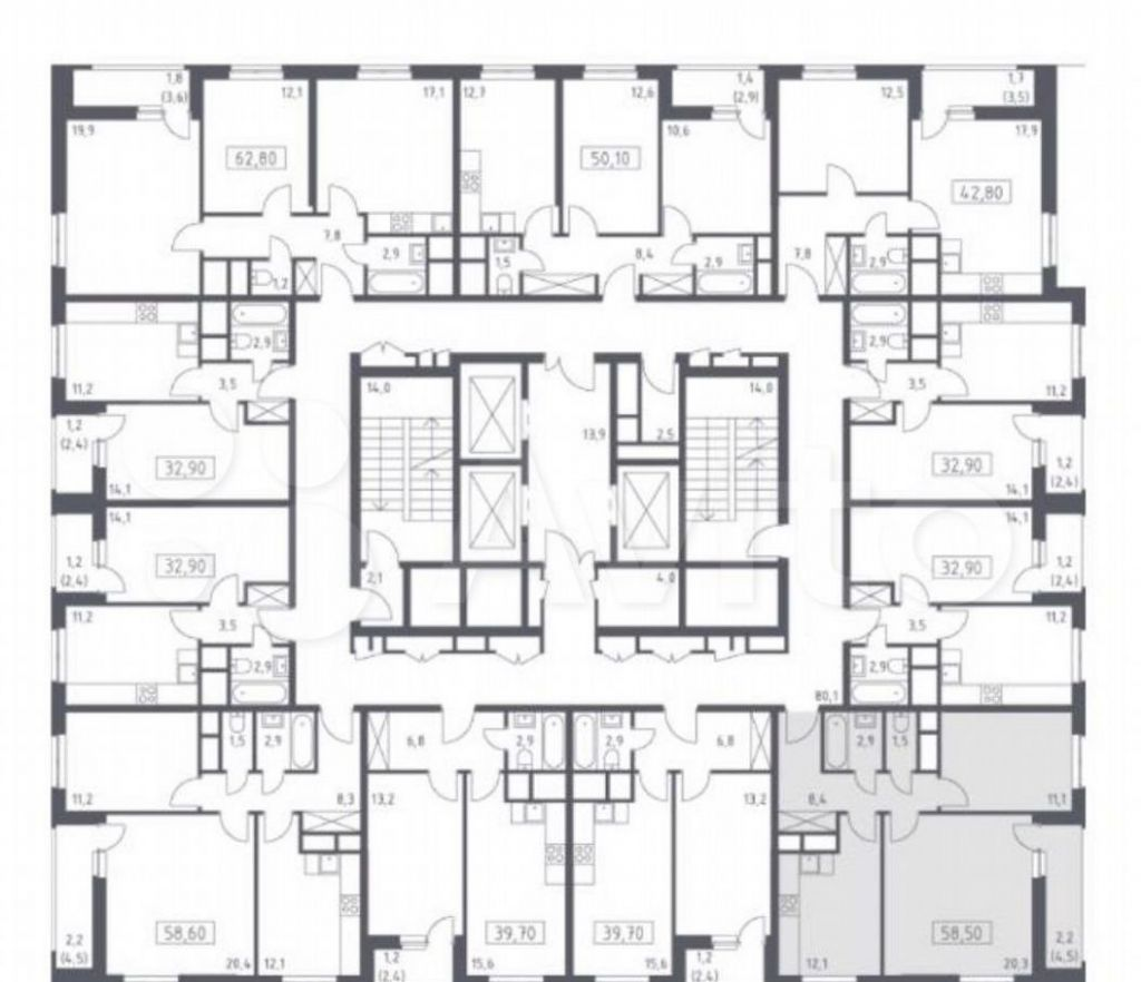 Продажа двухкомнатной квартиры деревня Одинцово, метро Строгино, цена 13500000 рублей, 2021 год объявление №676829 на megabaz.ru