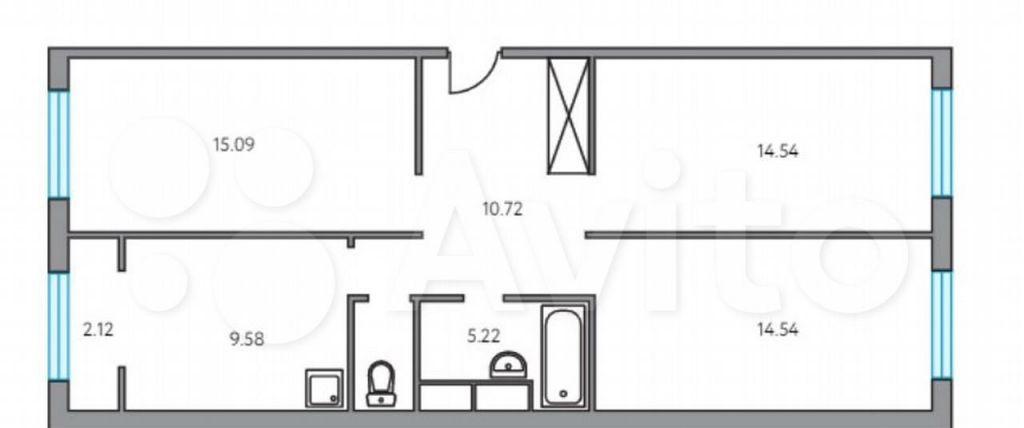 Продажа трёхкомнатной квартиры деревня Глухово, улица Рублёвское Предместье 1Б, цена 7956000 рублей, 2021 год объявление №680322 на megabaz.ru