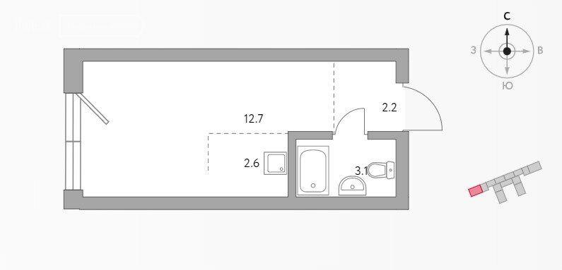 Продажа однокомнатной квартиры Москва, метро Волгоградский проспект, цена 5395000 рублей, 2021 год объявление №698936 на megabaz.ru