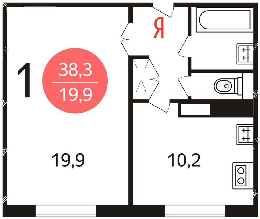 Аренда однокомнатной квартиры Москва, метро Новоясеневская, Литовский бульвар 15к1, цена 38500 рублей, 2021 год объявление №1458293 на megabaz.ru