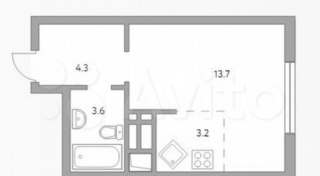 Продажа студии рабочий поселок Новоивановское, бульвар Эйнштейна 3, цена 4478550 рублей, 2021 год объявление №707942 на megabaz.ru