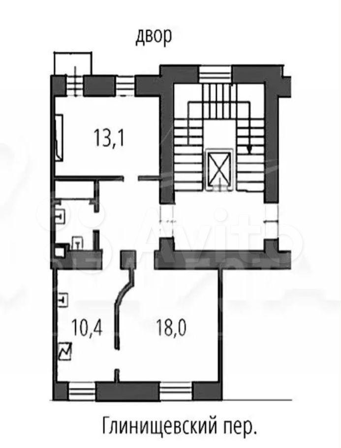 Продажа двухкомнатной квартиры Москва, метро Чеховская, Глинищевский переулок 5/7, цена 16000000 рублей, 2021 год объявление №684601 на megabaz.ru