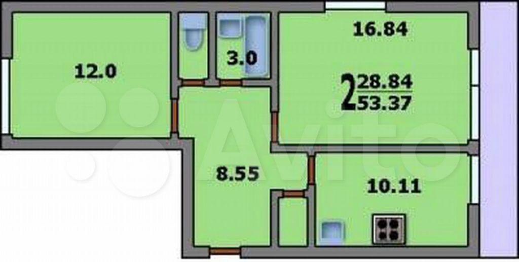 Продажа двухкомнатной квартиры поселок совхоза имени Ленина, метро Домодедовская, цена 10500000 рублей, 2021 год объявление №678428 на megabaz.ru