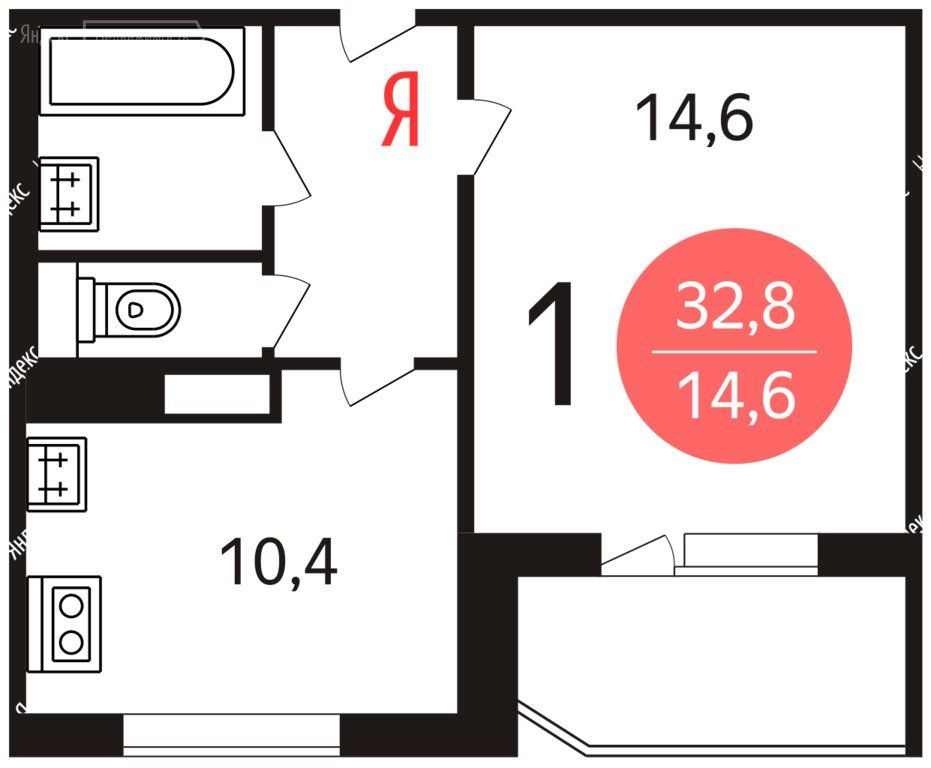 Аренда однокомнатной квартиры Москва, метро Полежаевская, Хорошёвское шоссе 80, цена 24000 рублей, 2021 год объявление №1464890 на megabaz.ru