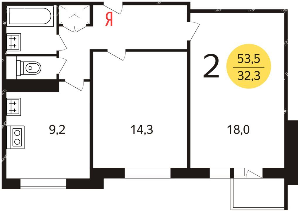 Продажа двухкомнатной квартиры Москва, метро Новоясеневская, Голубинская улица 32/2, цена 14000000 рублей, 2021 год объявление №706623 на megabaz.ru