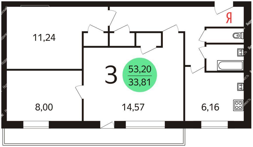 Продажа трёхкомнатной квартиры Москва, метро Рязанский проспект, улица Академика Скрябина 18, цена 11350000 рублей, 2021 год объявление №691042 на megabaz.ru