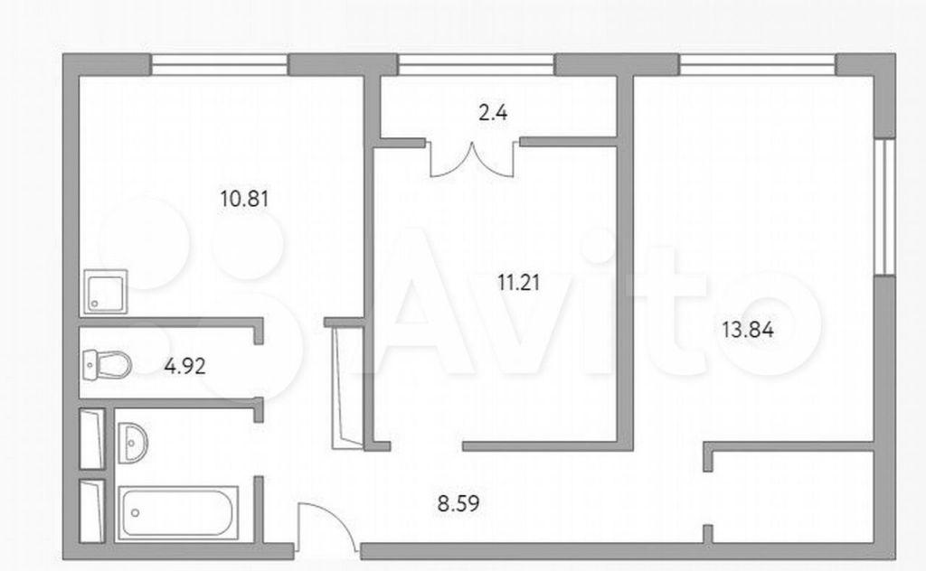Продажа двухкомнатной квартиры деревня Глухово, улица Рублёвское Предместье 1Б, цена 5699999 рублей, 2021 год объявление №691098 на megabaz.ru