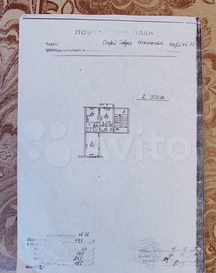 Продажа двухкомнатной квартиры поселок Старый Городок, Школьная улица 6, цена 4600000 рублей, 2021 год объявление №580738 на megabaz.ru